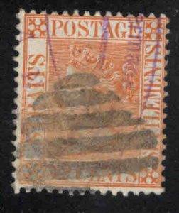 Straits Settlements Scott 56 Used  Queen Victoria stamp CA wmk