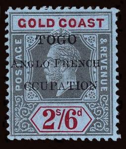 Togo Scott 74 Variety 4 Gibbons 43f Mint Stamp