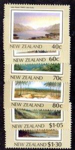 NEW ZEALAND 912 -7 MH SCV $7.60 BIN $3.00 LANDSCAPES