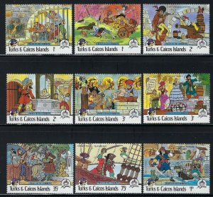 Turks and Caicos Islands Scott 695-703 Mint Never Hinged - Disney Pirates