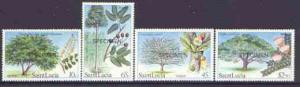 St Lucia 1984 Forestry Resources set of 4 opt'd SPECIMEN,...