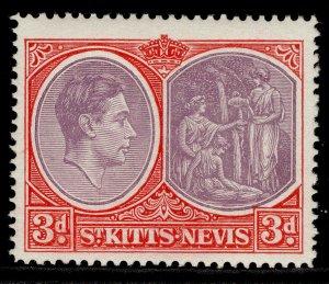 ST KITTS-NEVIS GV SG73g, 3d deep reddish purple & brt scarlet, M MINT. Cat £15.