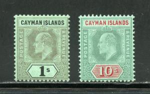 CAYMAN ISLANDS  SCOTT#29/30  HIGH VALUES  MINT LIGHT HINGED--SCOTT $310.00