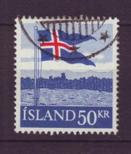 J19185 Jlstamps 1958 iceland hv of set used #314 flag