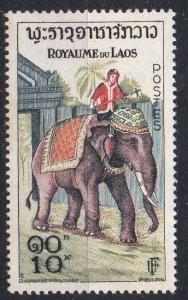 LAOS - 1958 - KINGDOM - ELEPHANT - 10.00K -