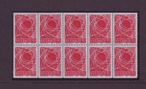 Sweden Sc792a 1968 Peoples College stamp bklt pane NH