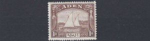 ADEN  1937  S G  9   1R  BROWN            MH