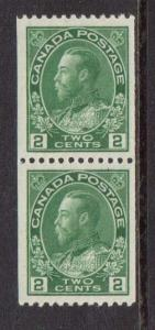 Canada #133 VF/NH Coil Pair  **With Certificate**