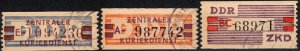 DDR Central Courier Service F-VF Used V $107.00 (X2312)