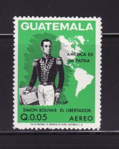 Guatemala C507 MNH Simón Bolívar, Map (D)