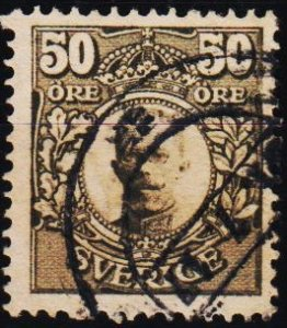 Sweden. 1910 50ore S.G.81 Fine Used