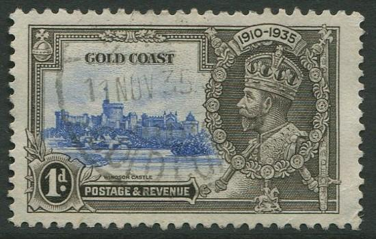 GOLD COAST 1935 - 1d USED