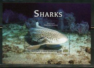 ST. VINCENT GRENADINES SHARKS SHEET & SOUVENIR SHEET MINT NH