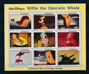 [22239] Dominica 1993 Disney Wilie the Operatic Whale MNH