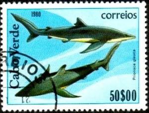 Fish, Blue Shark (Prionace glauca), Cape Verde SC#415 used