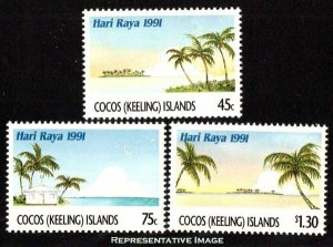 Cocos Islands Scott 241-243 Mint never hinged.