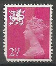 GREAT BRITAIN, WALES, 1971, mint 2 1/2p Scott WMMH1