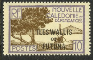 WALLIS AND FUTUNA ISLANDS 1930-40 10c Pictorial Scott No. 48 MH