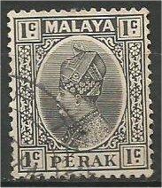 PERAK, 1936, used 1c, Sultan Iskandar. Scott 69