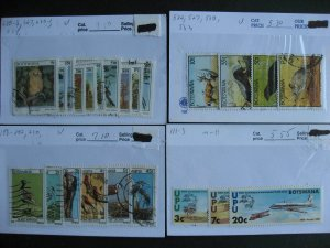 Botswana collection assembled in sales cards