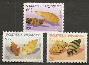 French Polynesia 523-5 1989 Seashells set NH