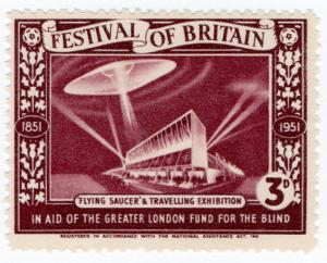 (I.B) Cinderella Collection : Festival of Britain - Flying Saucer 3d