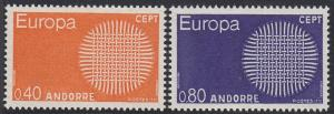 Andorra (French) 196-197 MNH 1970 Europa Complete