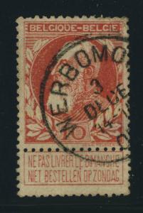 BELGIQUE BELGIUM - OBLITÉRATION RONDE WERBOMONT SUR COB 74
