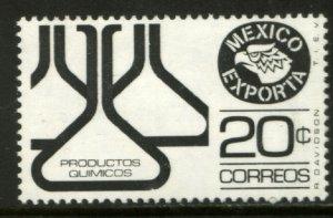 MEXICO Exporta 1166, 20¢ Chemical flasks Wmkd Fosfo Paper 2 MINT, NH. F-VF.