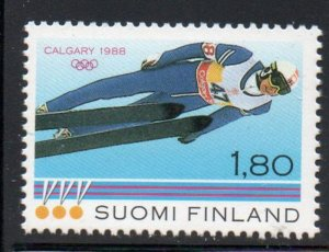 Finland Sc 770 1988 Calgary Olympics stamp mint NH