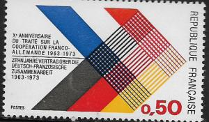 FRANCE, 1357, MNH, COLORS OF FRANCE AND GERMANY INTERLACED