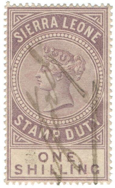 (I.B) Sierra Leone Revenue : Stamp Duty 1/-