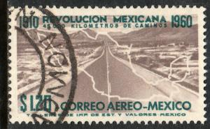 MEXICO C255, $1.20P 50th Anniv Mexican Revolution. USED, VF.  (1139)