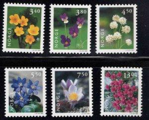 Norway Scott 1182-1187 MNH** Flower set