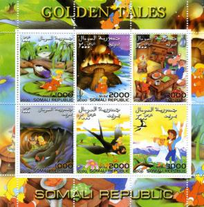 Somalia 2000 GOLDEN TALES Alice in Wonderland Sheet Perforated Mint (NH)