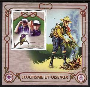 Congo 2015 Scouts & Birds perf deluxe sheet #2 contai...