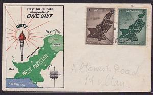 PAKISTAN 1955 'One Unit' commem FDC.........................................6087