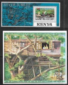 Kenya #87a & 88 souvenier sheets  (MNH) CV $6.50