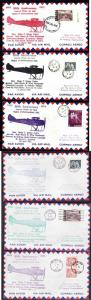Canada #12063 - Newfoundland 1922 Airmail flights 50th anniversary-6 covers-diff
