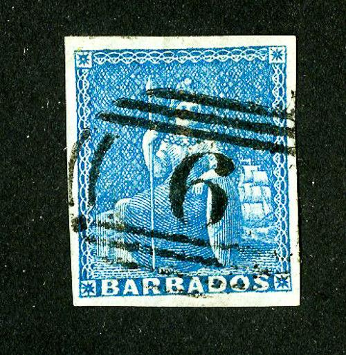 Barbados Stamps # 2 4 Margins Super Scott Value $80.00