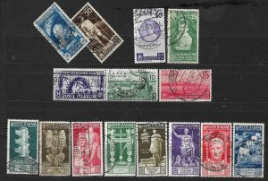COLLECTION LOT OF # 839 ITALY 15 STAMPS 1935+ CV+$29