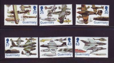 Guernsey Sc 629-34 1998 80th anniv RAF stamps mint NH
