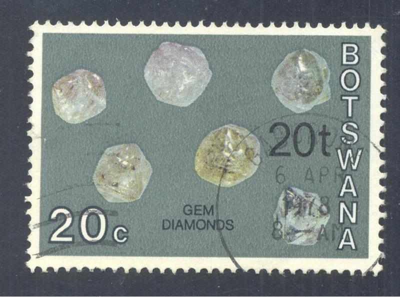 Gems & Minerals: Gem, Diamonds, 1974 Botswana, Scott #122