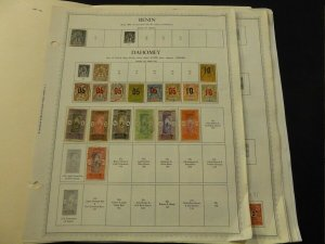 Dahomey 1899-1972 Fabulous Collection of Mint and Used Stamps