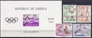 LIberia #390-2, C126-7 F-VF Unused CV $5.60 (A18118L)