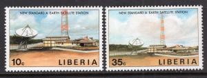 Liberia MNH 1135-6 Satellite Stations SCV 1.50