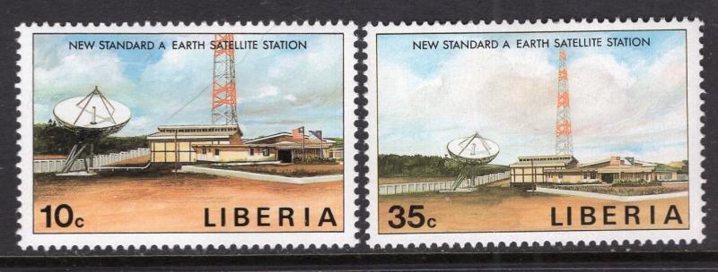 Liberia MNH 1135-6 Satellite Stations SCV 1.50