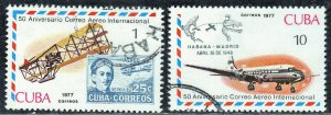CUBA SC# 2160+63  **USED** 1977   10c   SEE SCAN