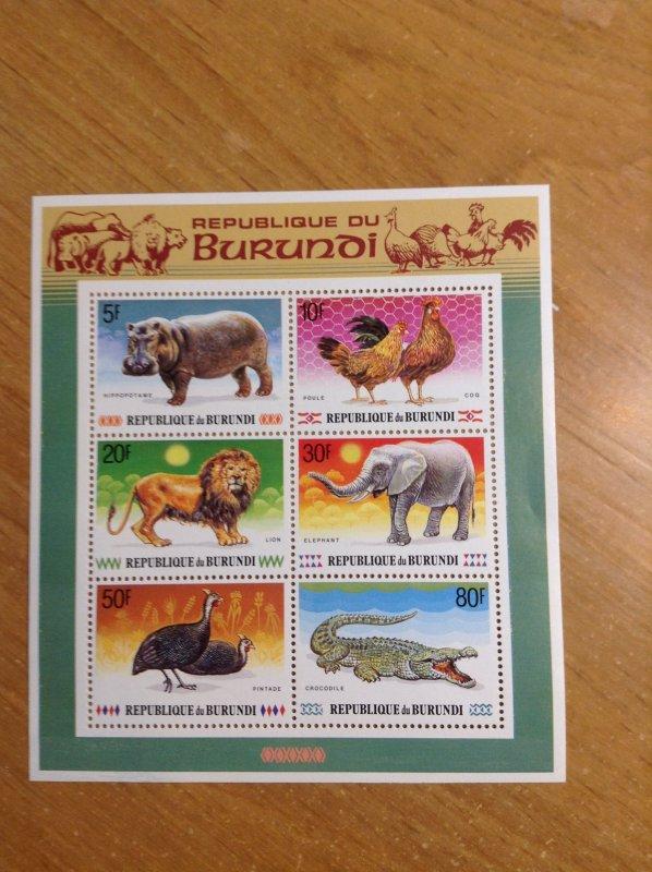 Burundi  # 661-66A   MNH