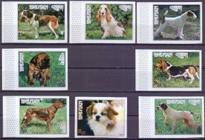 Bhutan. 1973. 536B-543B. Dogs. MNH.